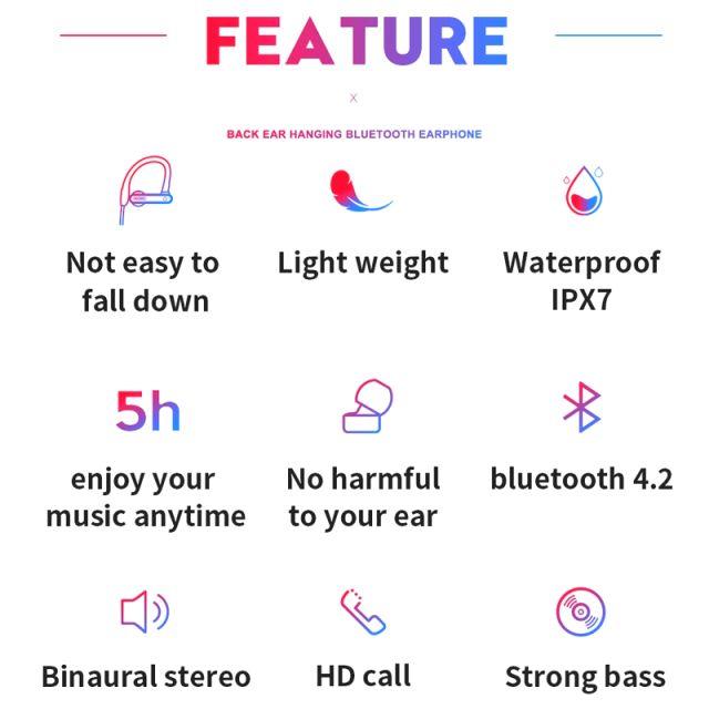 Bezdrátová bluetooth sluchátka HAWEEL HWL802 SPORT černá