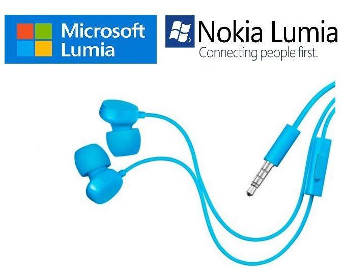 Sluchátka stereo pro Microsoft 640 Lumia XL Dual SIM - modré