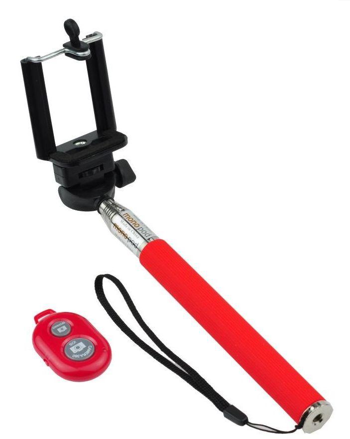 Držák na SELFIE + bluetooth dálkový ovladač - červený