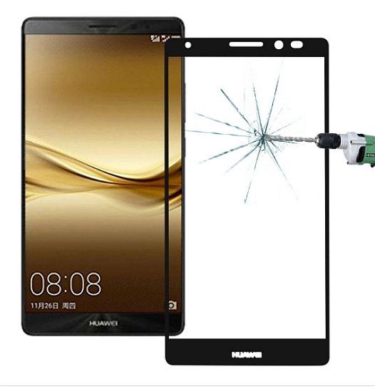 Ochranné tvrzené sklo, sklíčko na displej Huawei Mate 8 - černé