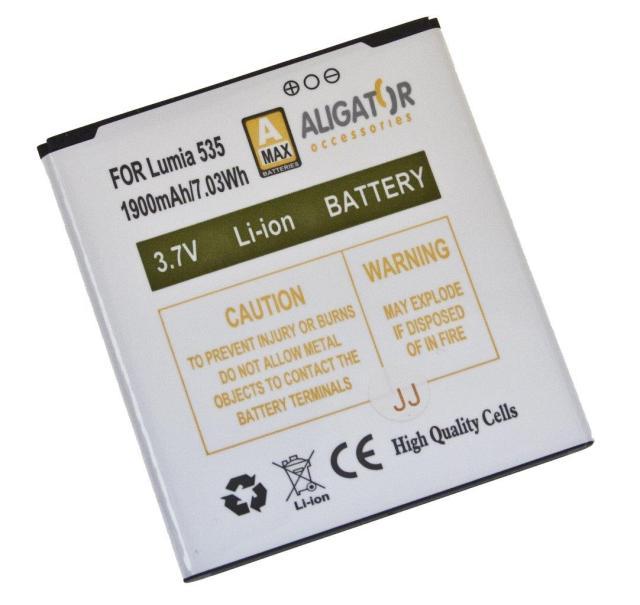 Baterie pro Microsoft 535 Lumia 1900mAh Li-ION nahrazuje ORIGINÁL