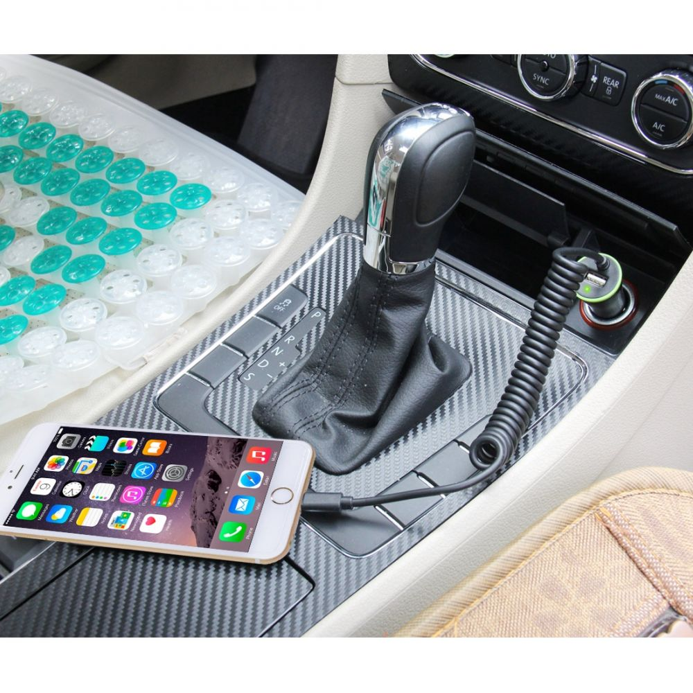 Autonabíječka pro Apple iPhone 7 Plus - dobíjecí proud až 2100mA