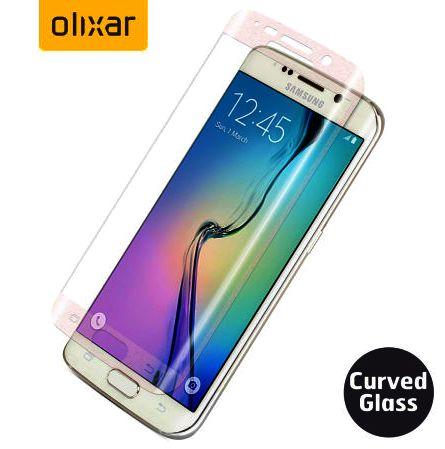 Ochranné sklo, sklíčko displeje Samsung Galaxy S6 Edge tvrzené, zaoblené - čiré