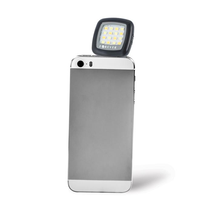 Přídavné LED světlo, přísvit, blesk SELFIE pro mobilní telefony, smartphony