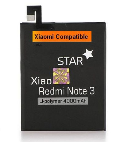 Baterie Xiaomi Redmi Note 3 Li-Ion 4000mAh nahrazuje ORIGINÁL BM46