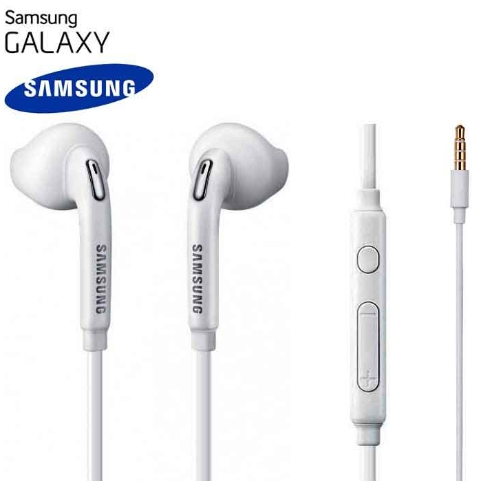 Stereo sluchátka pro Samsung J500F Galaxy J5 BASS bílá - ORIGINÁL