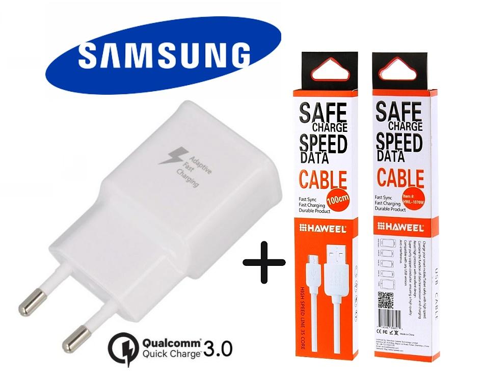 Nabíječka Samsung Galaxy S7 Edge G935 Fast Charger ORIGINÁL + kabel SPEED