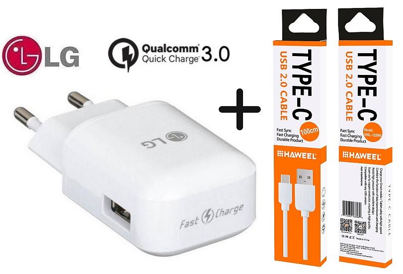 Nabíječka LG G6 H870 Fast Charge ORIGINÁL + kabel SPEED-C
