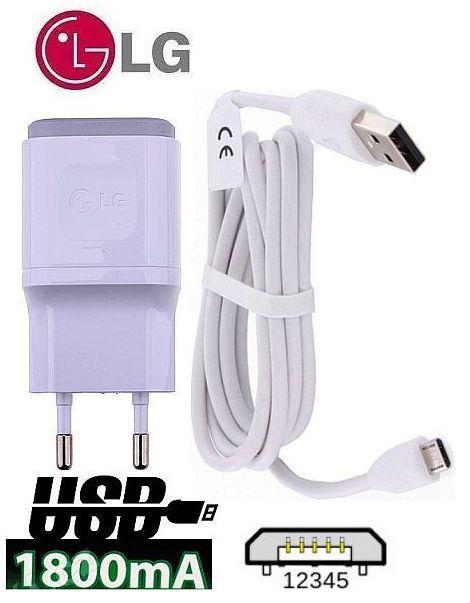 Nabíječka pro LG K10 K420n 1,8A ORIGINÁL + nabíjecí, data kabel SPEED
