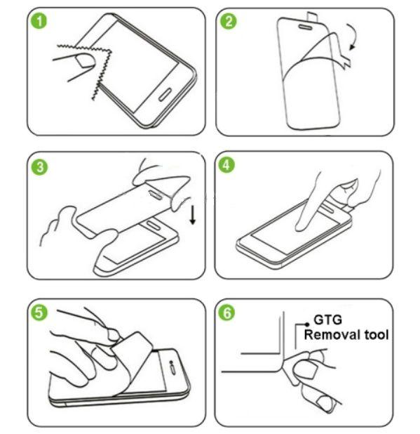 Ochranné sklo, sklíčko na displej pro iPhone 5 - tvrzené