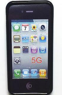 Gelové silikonové pouzdro a folie pro iPhone 5s černé