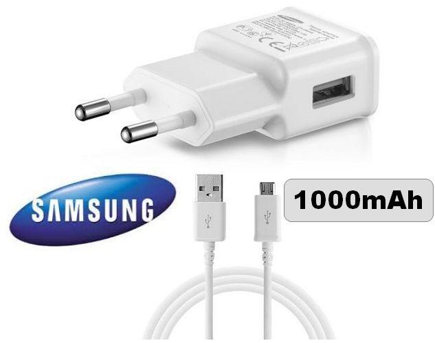 Nabíječka pro Samsung J100 Galaxy J1 bílá + nabíjecí, data kabel ORIGINÁL