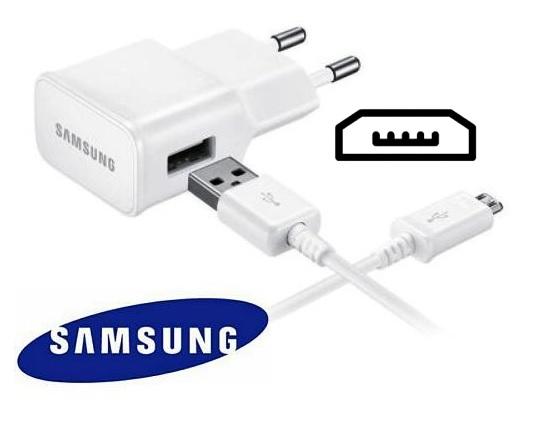 Nabíječka pro Samsung J510F Galaxy J5 2016 bílá + nabíjecí, data kabel ORIGINÁL