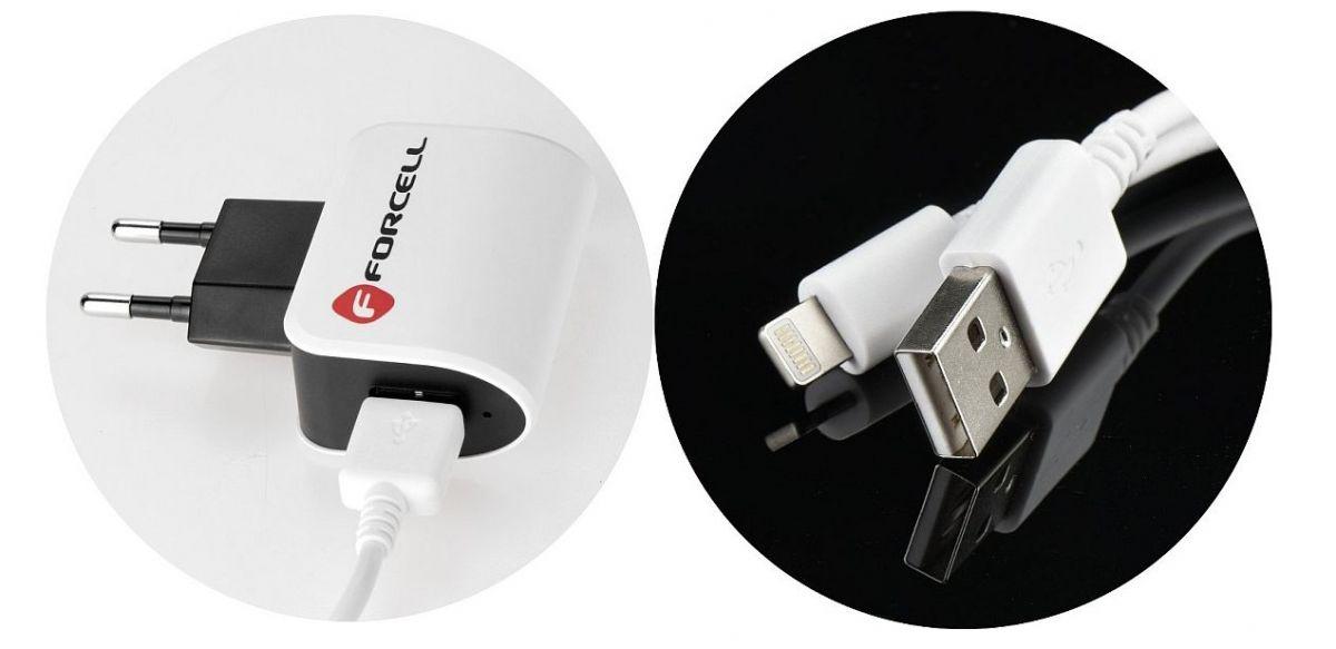 Nabíječka pro iPhone 7 Apple 1A + datový, dobíjecí kabel