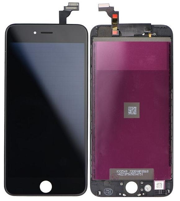LCD displej pro Apple iPhone 6 Plus černý + dotyková plocha s rámečkem
