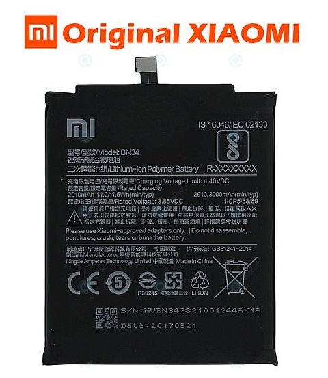 Baterie Xiaomi Redmi 5A Li-Pol 3000mAh ORIGINÁL