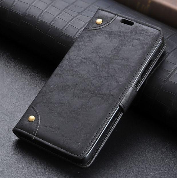 Kožené pouzdro Xiaomi Pocophone F1 černé CRAZY HORSE