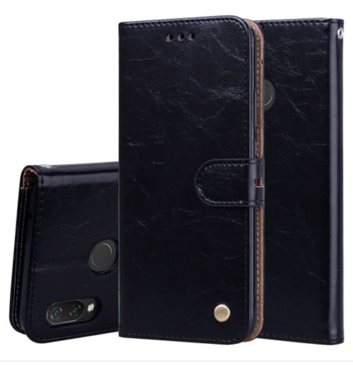 Kožené pouzdro pro HUAWEI NOVA 3i černé, black - řada Business Style