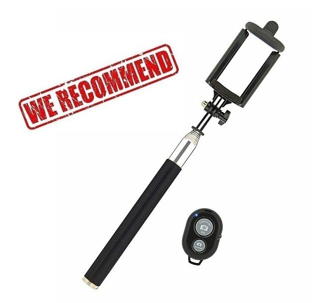 SELFIE tyč, držák pro Honor View 10 s bluetooth ovladačem, černá