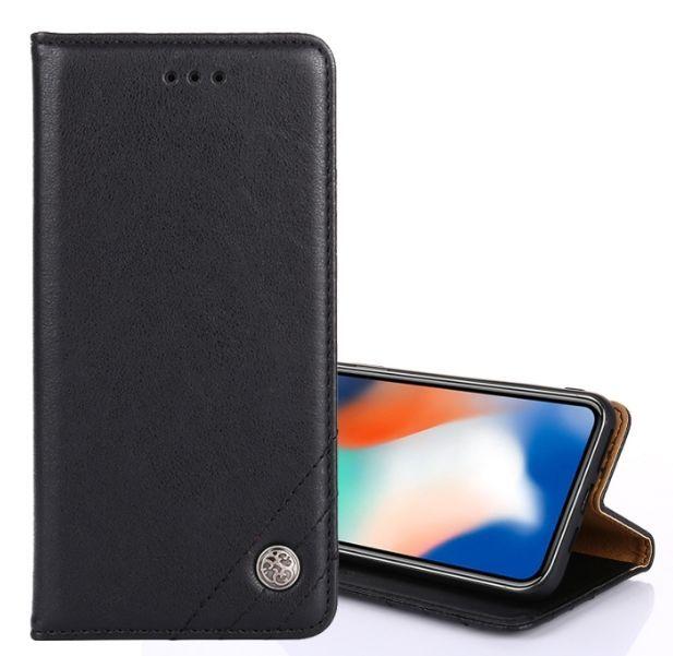 Kožené pouzdro Xiaomi Mi 8 Lite černé Crazy Horse