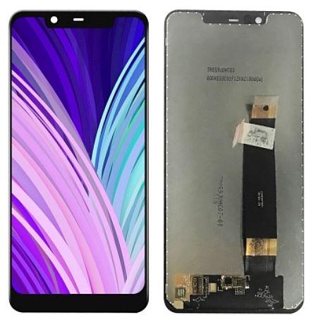 LCD displej Nokia 5.1 Plus + dotyková plocha, černý kompletní
