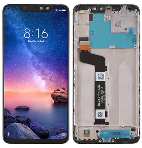 LCD displej + dotyková plocha + rámeček, přední kryt Xiaomi Redmi Note 6 Pro