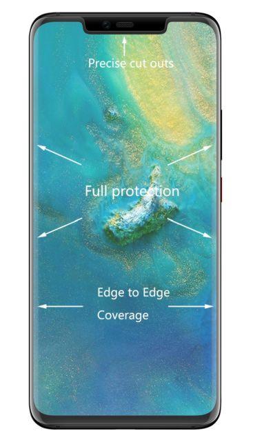 Tvrzené sklo Huawei Mate 20 Pro zaoblené čiré, FULL SCREEN