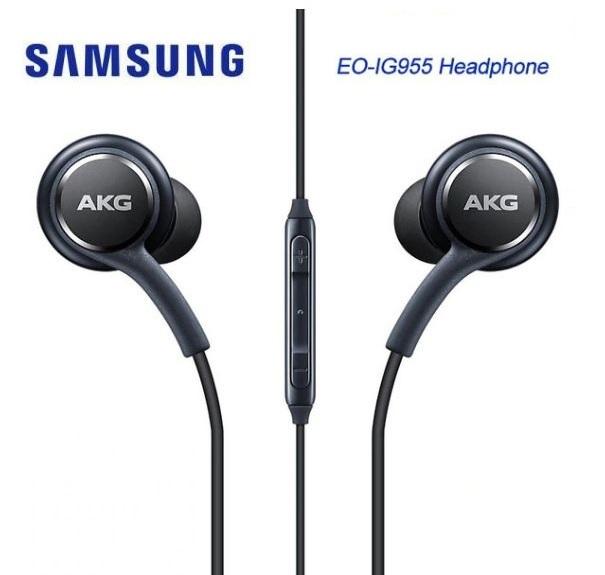 Stereo sluchátka pro Samsung G965F Galaxy S9 Plus BASS černá - ORIGINÁL