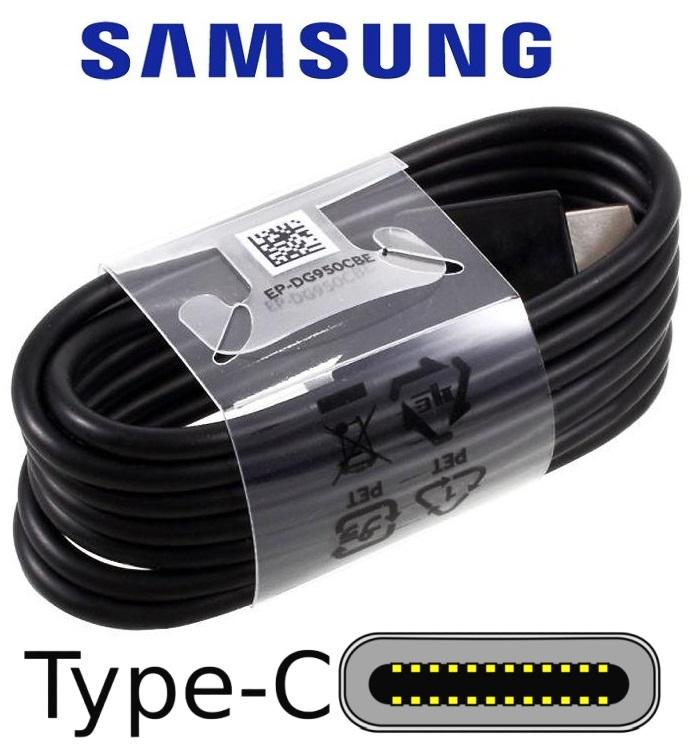 Dobíjecí, datový kabel pro Samsung Galaxy S8 Plus G955F ORIGINÁL černý