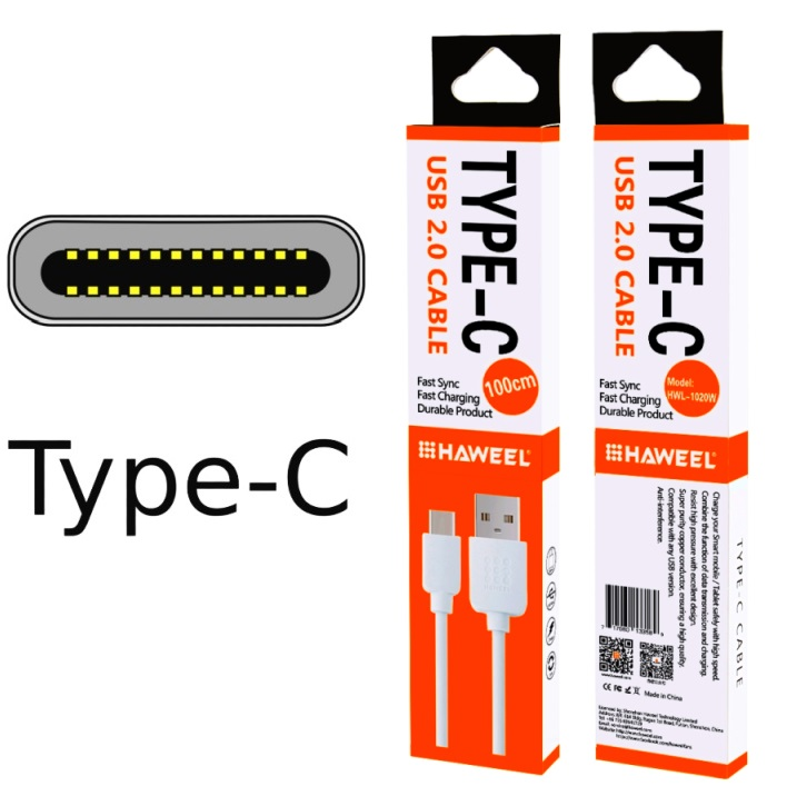 USB datový, dobíjecí kabel pro Samsung Galaxy A50 A505F SPEED bílý
