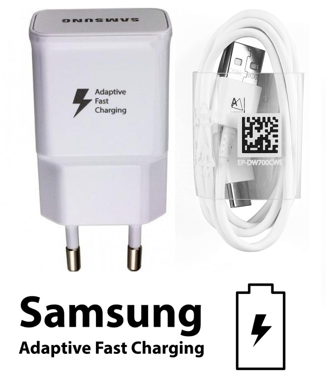 Nabíječka pro Samsung Galaxy A8 2018 A530F s rychlým dobíjením + kabel ORIGINÁL