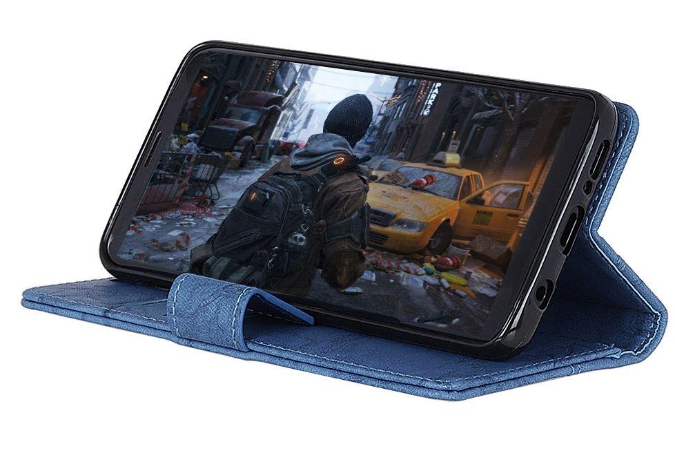Kožené pouzdro Nokia 5.1 Plus modré CRAZY HORSE