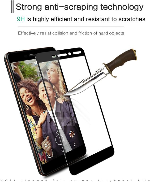 Tvrzené sklo Nokia 6.1 černé FULL SCREEN