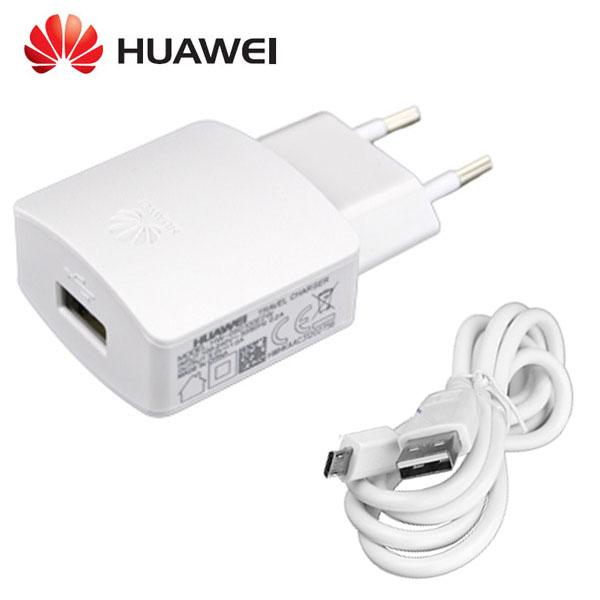 Síťová nabíječka pro Huawei Y7 2019 1000mA + datový kabel ORIGINÁL