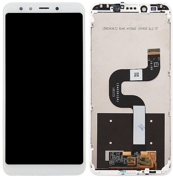 LCD displej Xiaomi Mi A2 bílý + dotyková plocha + přední kryt
