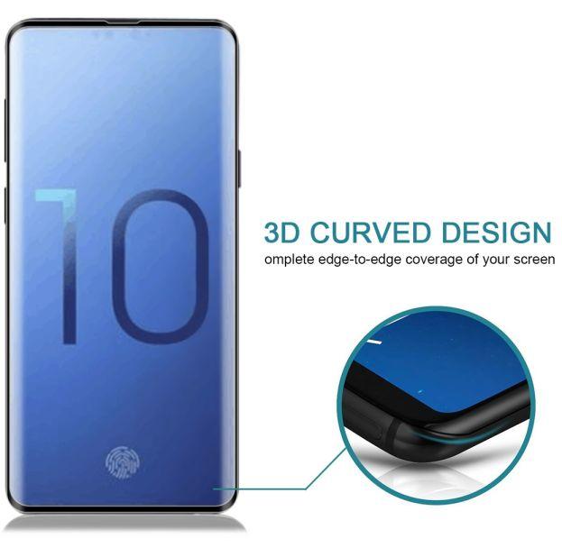 Tvrzené sklo pro Samsung Galaxy S10+ G975 oblé celoplošné, FULL SCREEN