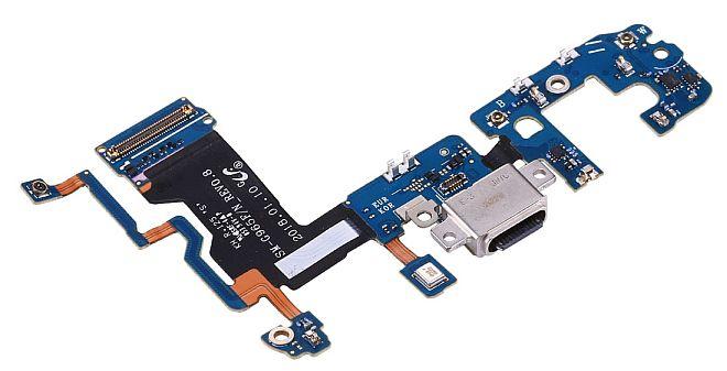 Konektor dobíjení + mikrofon pro Samsung Galaxy S9+ G965F na desce