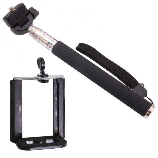 SELFIE tyč pro SONY Xperia XZ3 černá + dálkový ovladač