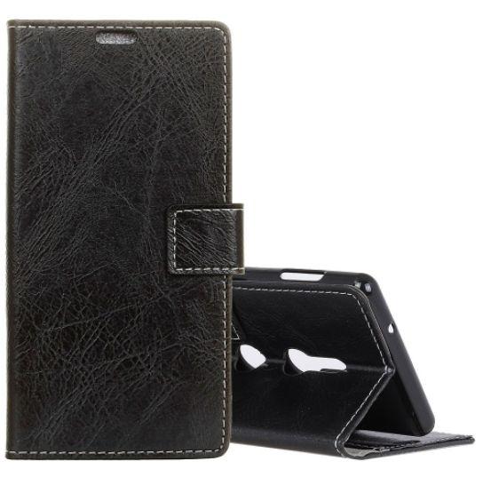 Kožené pouzdro Sony Xperia XZ3 černé CRAZY HORSE