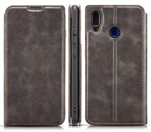 Kožené pouzdro pro Huawei P Smart 2019 černé MAGNET BOOK