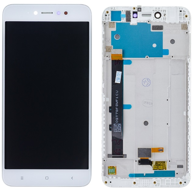 LCD displej Xiaomi Redmi Note 5A Prime bílý + přední kryt - rámeček ORIGINÁL