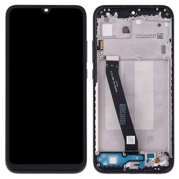 LCD displej Xiaomi Redmi 7 černý + přední kryt - rámeček ORIGINÁL