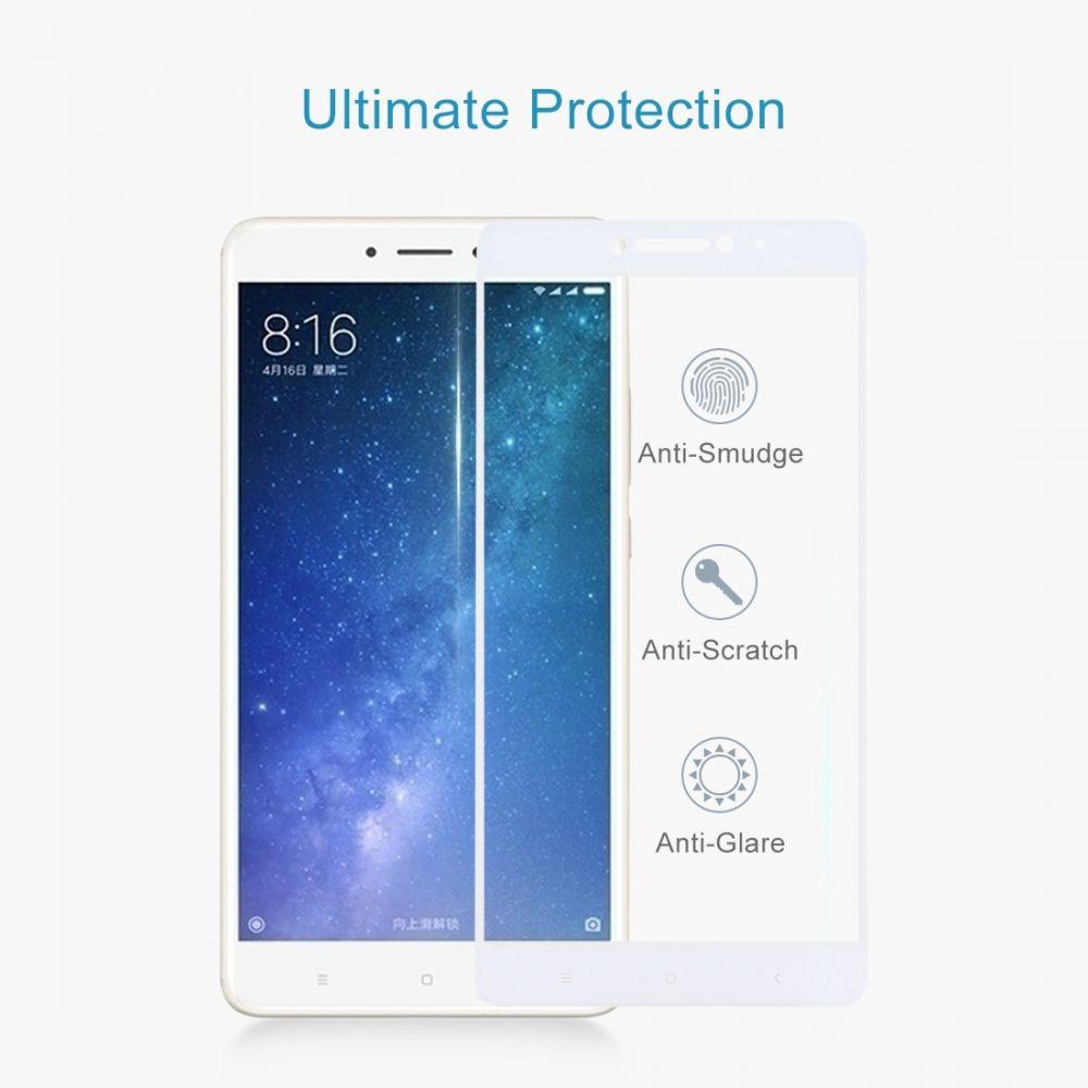 Tvrzené sklo Xiaomi Mi Max 2 čiré, bílý lem