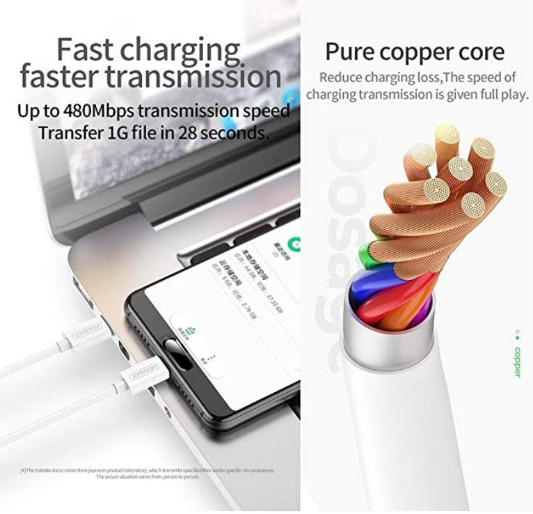 Dobíjecí a datový kabel Typ-C / Typ-C vysokorychlostní 1,2m