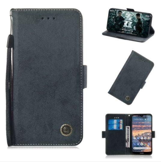 Kožené pouzdro Nokia 4.2 černé CLASSIC