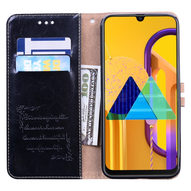 Pouzdro Samsung Galaxy M21 M215F kožené černé