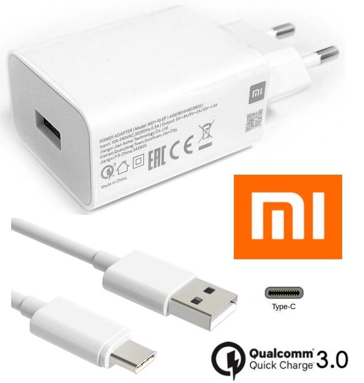 Nabíječka Xiaomi Mi 10T 5G + kabel ORIGINÁL - bílá