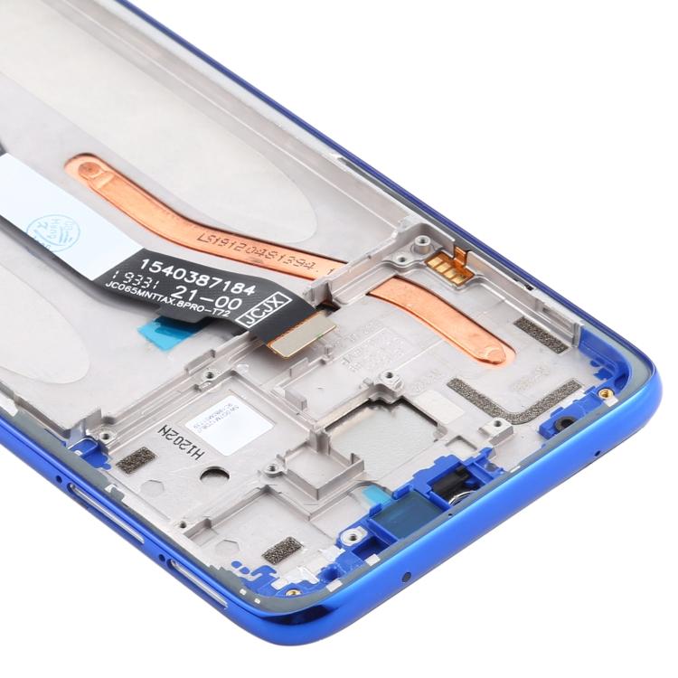 LCD displej Xiaomi Redmi Note 8 Pro modrý + přední kryt