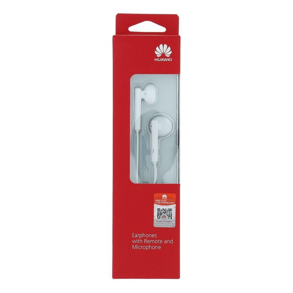 Stereo sluchátka pro Honor 8s bílá SUPER BASS s mikrofonem ORIGINÁL