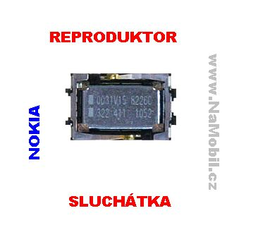 Reproduktor pro Nokii, sluchátko na Nokia 6303 Classic - ORIGINÁL repráček sluchátka
